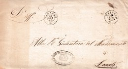 R297  Involucro Del 1863 Da Gavardo (Goglione Di Sopra)  A Lonato , Leggi ... - 1861-78 Victor Emmanuel II.
