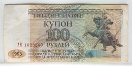 TRANSNISTRIA 20 1993 100 Rublei UNC - Banknotes