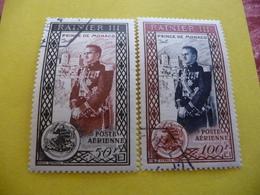 TIMBRES  DE  MONACO  POSTE  AÉRIENNE  N  49 / 50  COTE   22,00 EUROS   OBLITÉRÉS - Airmail