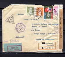 1941    Turquie  1941, Lettre D'Ankara Vers Bunia Ouverte Par Censure - Kenya, Uganda & Tanganyika