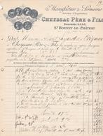 SAINT BONNET LE CHATEAU CHEYSSAC MANUFACTURE DE SERRURERIE ANNEE 1910 - Other
