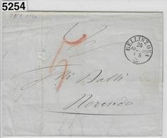 1860 Bellinzona 25. Aug. 60 To Roveredo - Svizzera