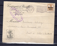 1916    Belgique, Occupation Allemande, OC15 Sur Lettre - [OC1/25] Gouv. Gén.