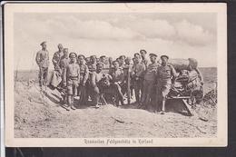 Russisches Feldgeschütz In Kurland - Guerra 1914-18