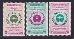 KHMERE N°  307 à 309 ** MNH Neufs Sans Charnière, TB (D7293) Nations-Unies, Conférence Sur L'environnement - Kampuchea