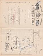 CLERMONT FERRAND A VIEILLARD AINE PRODUITS SPECIAUX D AUVERGNE DE BOULOGNE A MR SORIN A SAUJON ANNEE 1911 - France