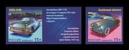 Russia 2013 Mih. 2000/01 History Of Automobile Production (with Labels) (joint Issue Russia-Monaco) MNH ** - Unused Stamps
