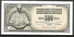 YUGOSLAVIA 91a 1978 500 Dinara UNC - Yugoslavia