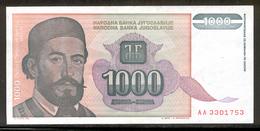 YUGOSLAVIA 140 1994 1000 Dinara UNC - Yugoslavia