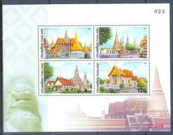 H22- Thailand Thailande 2002. Temple Sheet. - Thailand