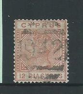 Cyprus 1882 QV 12 Piastre Orange Brown FU - Cyprus (Republic)