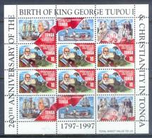 H24- Tonga 1997. 200 Th Anniversary Of The Birth Of King George Tupou I & Christianity In Tonga. - Ships