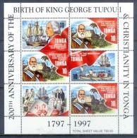 H25- Tonga 1997. 200 Th Anniversary Of The Birth Of King George Tupou I & Christianity In Tonga. - Ships