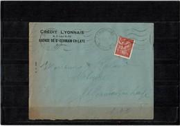 LCA4 - IRIS 1f50 SEUL SUR LETRE A EN TÊTE CREDIT LYONNAIS - 1939-44 Iris