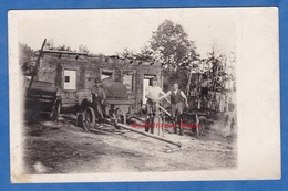 CPA Photo - Front à Situer - Forge Allemande - WW1 Attelage Forgeron Outil Enclume Soldat Allemand German - Guerra 1914-18
