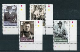 "Südgeorgien - Mi.Nr. 678 / 681 - ""100. Jahrestag Shackleton-Expedition"" ** / MNH (Eckrandsatz) - Géorgie Du Sud"