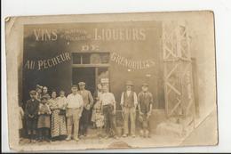 """Rare CPA Maison Café H. Cocheteau Vins Et Liqueurs """"Au Pêcheur De Grenouilles"""" - Cafés"""