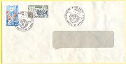 FRANCIA - France - 1977 - 2,50 Roussillon + 1,40 Europa Cept - Cachet Special Musée Postal - Viaggiata Da Paris - Cartas