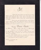 HULST BREDA Philomène Van WAESBERGHE épouse Frans SMITS 1837-1901 Doodsbrief - Overlijden
