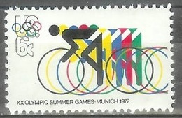 1972 6 Cents Olympics Bicycling Mint Never Hinged - Unused Stamps
