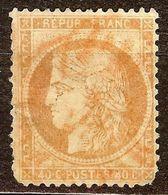 EXTRA CERES N°38 40c Orange Oblitéré CàD ROUGE Des IMPRIMES Cote 55 Euro - 1870 Siege Of Paris