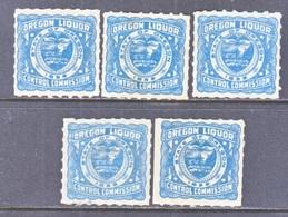 U.S.  STATE   OREGON   LIQUOR  TAX  (o) - United States