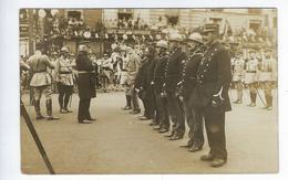 CPA Animée Carte Photo Dieppe Retour Du Bataillon Du 39e Régiment D'infanterie Le 20 Août 1919 Café Des Orphéons - Dieppe