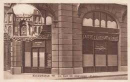 Paris France, Savings Bank Branch TE, 42 Rue De Bretagne, C1940s Vintage Postcard - Arrondissement: 03