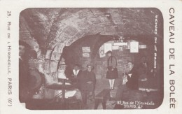 Paris France, Caveua De La Bolee, 25 Rue De L'Hirondelles, C1930s Vintage Postcard-card Sized Image - Other