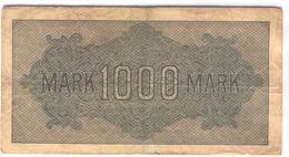 GERMANY 76 1922 1000 Mark Used - [ 3] 1918-1933 : Weimar Republic