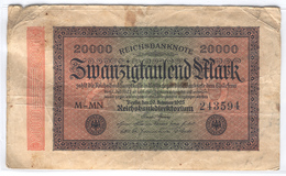 GERMANY 85 1923 20000 Mark Used - [ 3] 1918-1933 : Weimar Republic