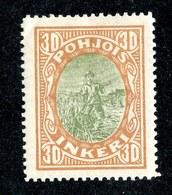 W6582  Nordingermanland 1919  Scott #9* Genuine- Offers Welcome - 1919 Occupation Finlandaise
