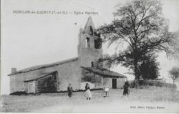 MONTCLAR-DE-QUERCY - EGLISE MARNHAC - BIEN ANIMEE - VERS 1900 - Montclar De Quercy