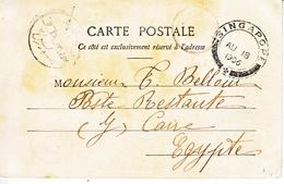 FRENCH  INDO-CHINE  TOURANE  To  EGYPT  VIA SINGAPORE - Indochina (1889-1945)