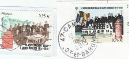 FRANCE 2015 LE GOUVERNEMENT BELGE EN PAIRE OBLITERE YT 4933 + 4934 -                                           TDA268 - France