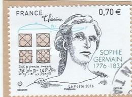 FRANCE 2016 SOPHIE GERMAIN OBLITERE  YT 5036 -                                                   TDA268 - France