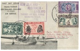 (100) New Zealand Cover Posrted To Sydney - Australia - For Inugural New Zealand To England Throug Air Mail Service - - Lettres & Documents