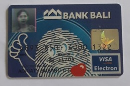 Indonesia Creditcard (VISA ELECTRON) Bank BALI With Picture Identity) Used - Credit Cards (Exp. Date Min. 10 Years)