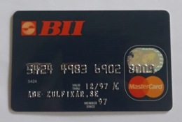 Indonesia Creditcard - (MASTERCARD) Bank BII (Used) - Geldkarten (Ablauf Min. 10 Jahre)