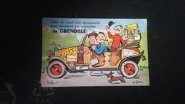 Grenoble.carte Avec Vue Cachée - Grenoble