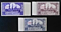 MILLENAIRE DE L'UNIVERSITE AL AZHAR 1957 - NEUFS ** - YT 392/94 - MI 504/06 - BORDS DE FEUILLES - Egypt