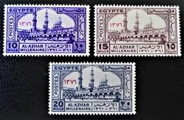 MILLENAIRE DE L'UNIVERSITE AL AZHAR 1957 - NEUFS ** - YT 392/94 - MI 504/06 - Egypt