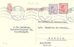 Danemark Danmark Entier Postal, Ganzsachen, Postal Stationery Carte Postale Postkarten - Postwaardestukken