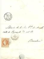 CARTA 1860  TARRAGONA - Spain