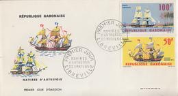 Enveloppe  FDC  1er  Jour   GABON   Navires  D' Autrefois    1965 - Barche