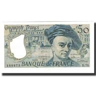France, 50 Francs, 50 F 1976-1992 ''Quentin De La Tour'', 1992, SPL+ - 50 F 1976-1992 ''Quentin De La Tour''