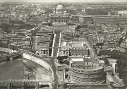 Roma (Lazio) Veduta Aerea Con Fiume Tevere, Castel Sant'Angelo E Basilica San Pietro - Multi-vues, Vues Panoramiques