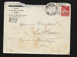 """Algérie Lettre Alger Le 12/04/1935 Pour Montéleger CAD Pointillé Le 15/04/1935 N°79A Daguin """"Passez L'hiver à Alger""""B/TB - Briefe U. Dokumente"""