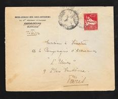 Algérie Lettre Mess Des Sous Officiers 3ème REP Tebassa 28/05/1935 Pour Paris Le 01/6/1935 Le N°79A  B/TB - Briefe U. Dokumente