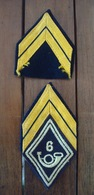 Losange De Bras + Galon 6 Bataillon Chasseurs Alpins - AFN - Algérie. - Militaria